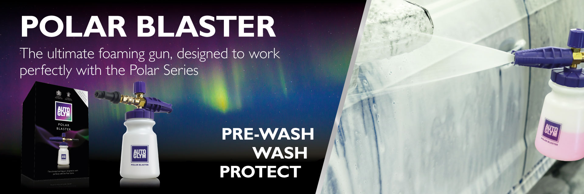 Pre-Wash, Wash, and Protect with the Autoglym Polar Blaster!